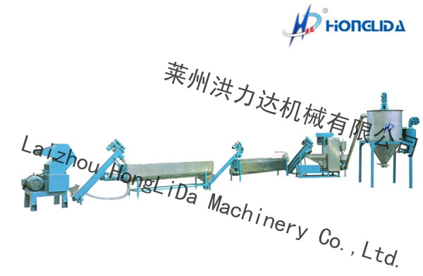 PET Crushing and Cleaning Machine